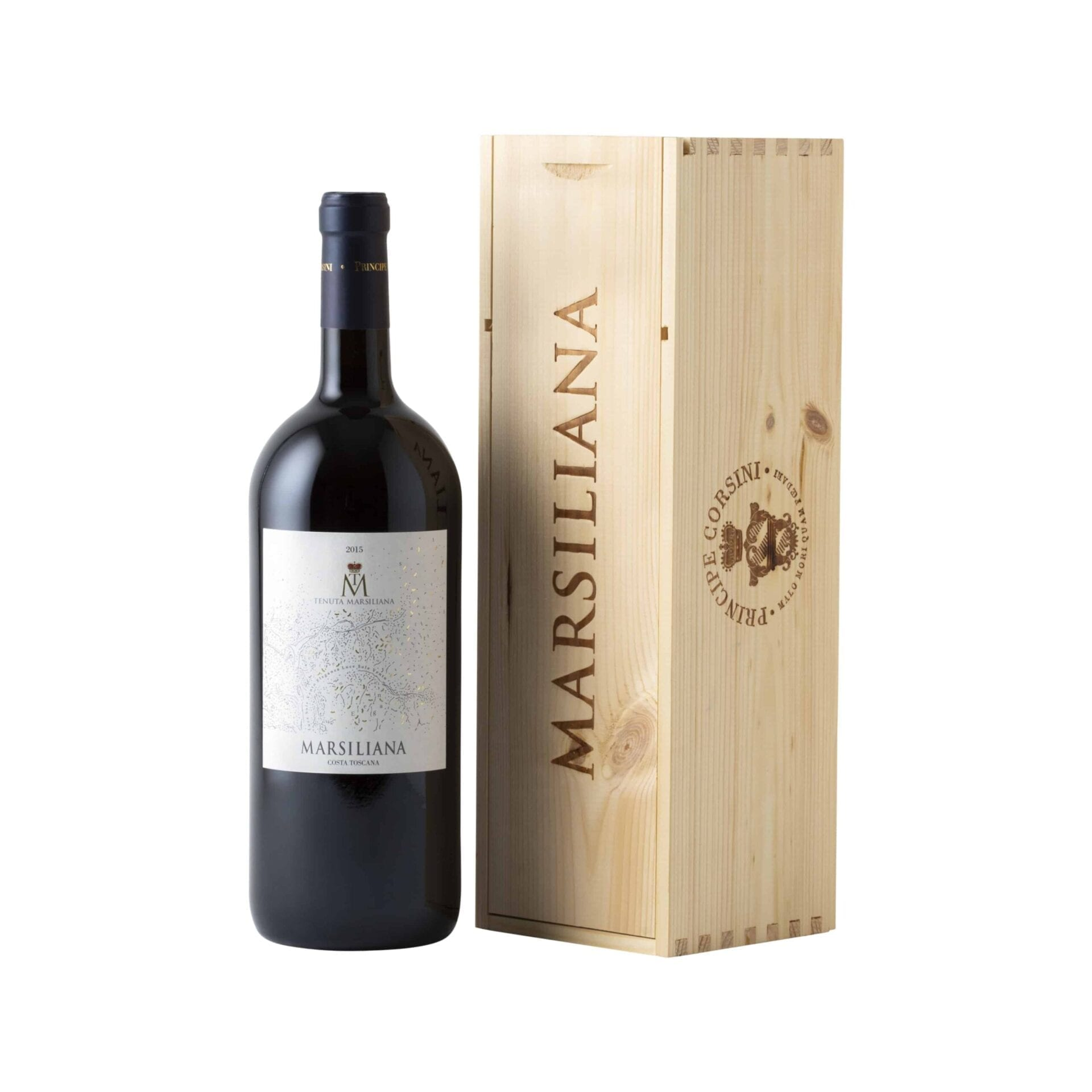 Marsiliana IGT Costa Toscana 1,5 L + Wooden Box