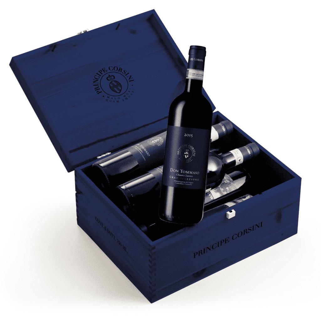 6 Bott. Don Tommaso 2016 Chianti Classico Gran Selezione DOCG + Cassetta di Legno