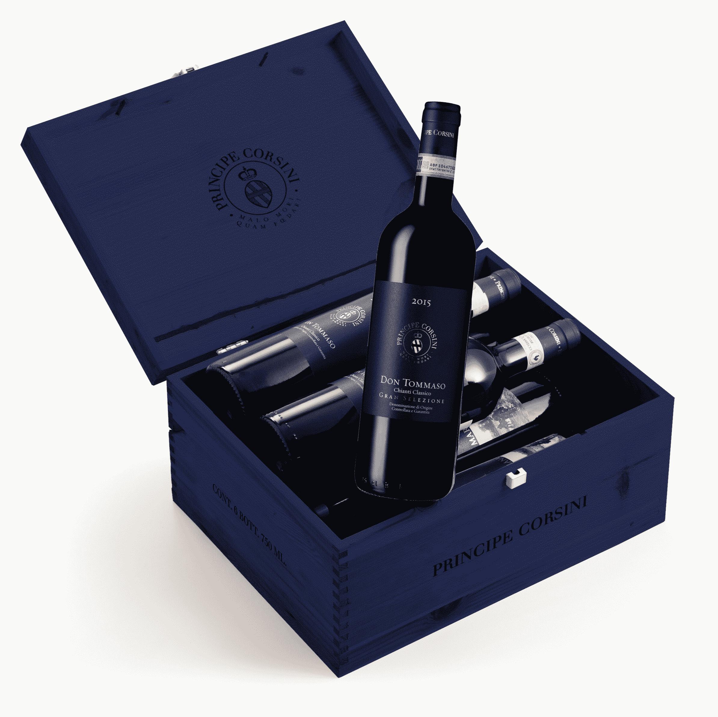 6 Bott. Don Tommaso 2016 Chianti Classico Gran Selezione DOCG + Wooden Box