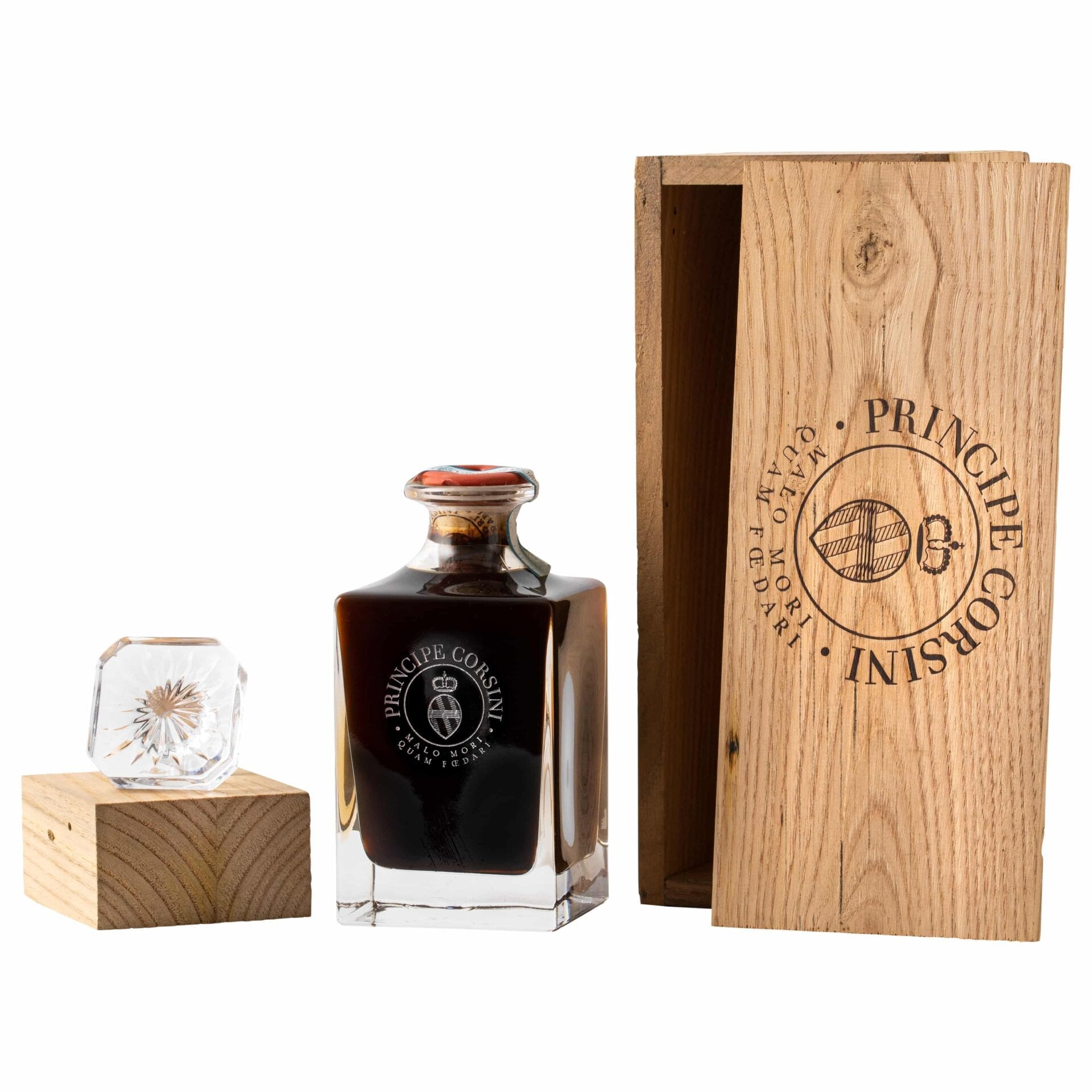 Vin Santo in crystal bottle + Wooden box