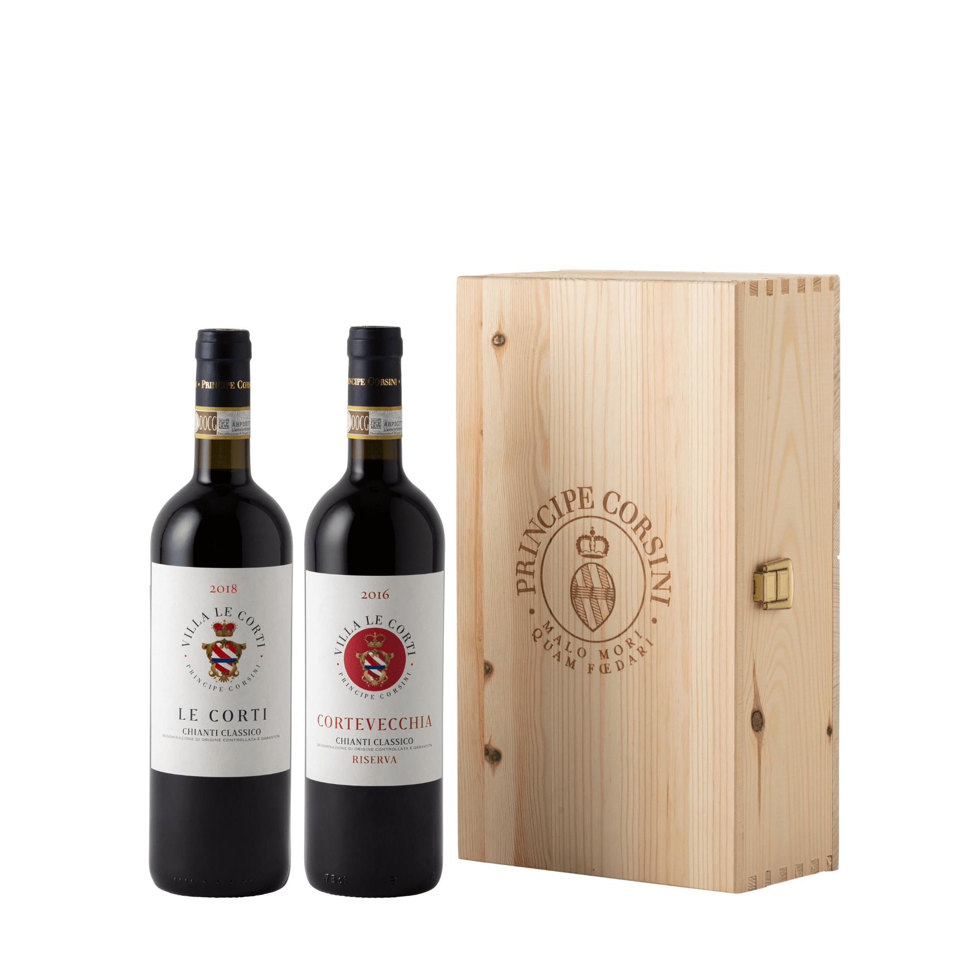 Cortevecchia 2016 + Le Corti 2018 + Wooden Box