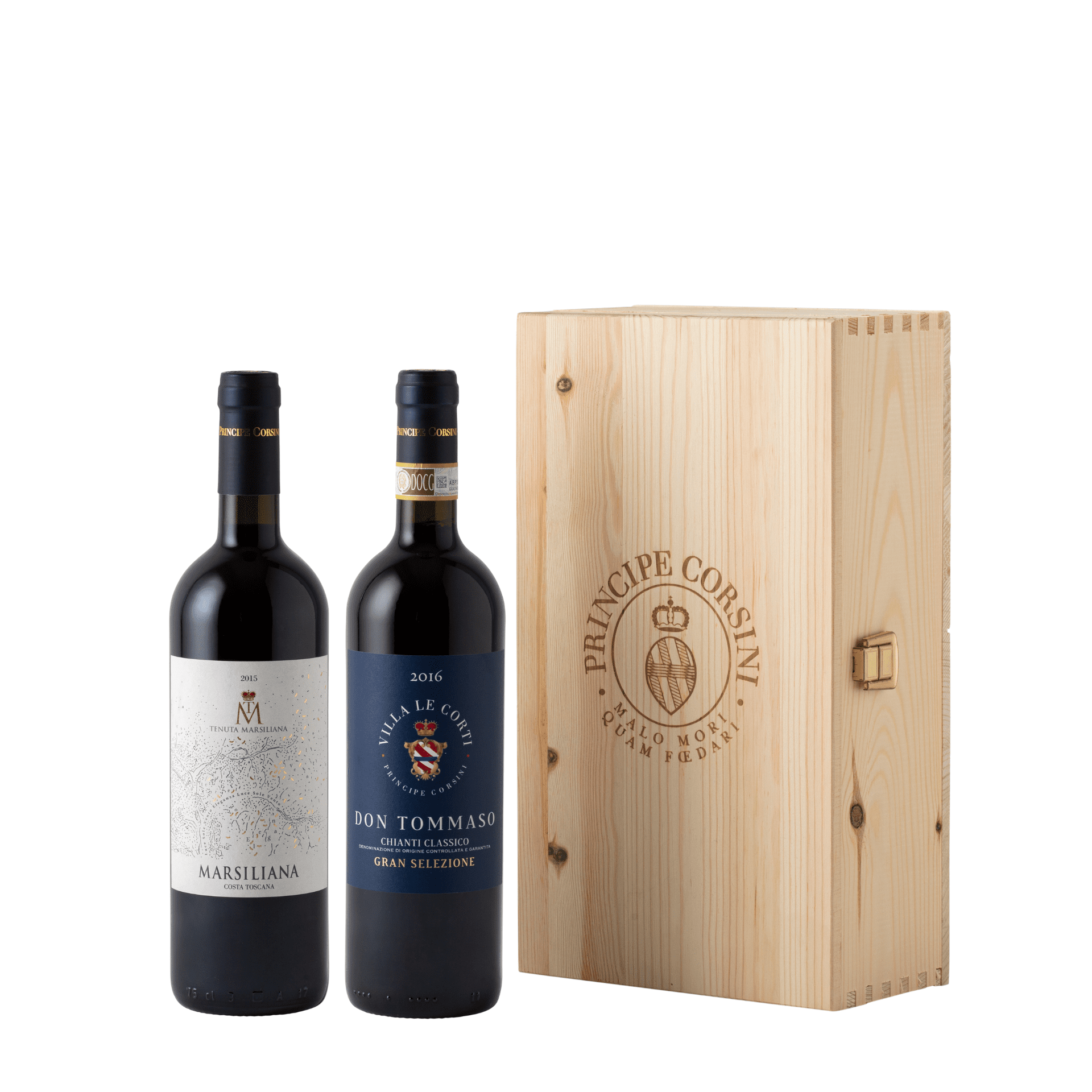 Don Tommaso 2016 + Marsiliana 2016 + Wooden Box